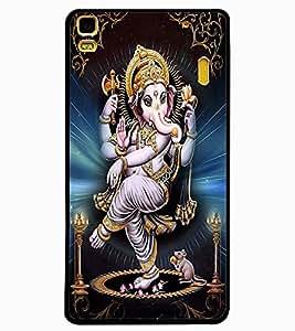 ColourCraft Lord Ganesha Design Back Case Cover for LENOVO K3 NOTE