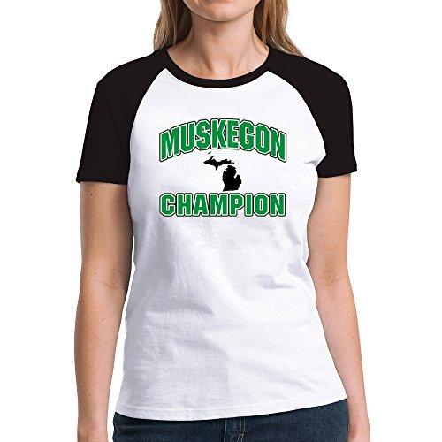Eddany Muskegon champion Damen Raglan T-Shirt