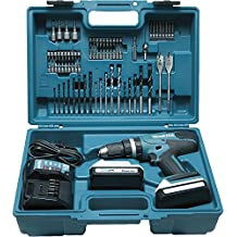 Makita HP457DWE10 Taladro percutor 2x18 V 1,5Ah Li, maletin y 74 accesorios incluidos
