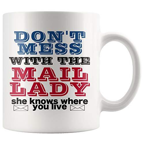 affeetasse Postal Worker Post Brief Postfach Postmaster Post Master Appreciation Verwirren Sie Sich Nicht mit der Mail Lady Sie wei? ()
