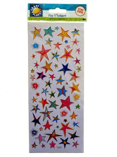 Craft Planet CPT 6561010 - Pegatinas Decorativas, diseño de Estrellas