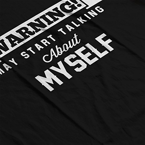Warning May Start Talking About Myself Men's Hooded Sweatshirt Black