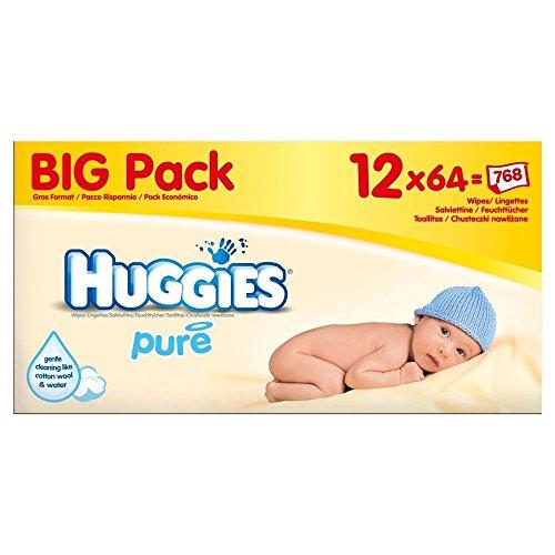 Huggies Puro Bebé Toallitas (64 Por Paquete X 12)