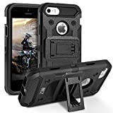 BEZ Coque pour iPhone 5S, Coque Etui Housse iPhone 5 5S Se Antichoc Militaire [Tough Armor] Heavy Duty Shock Proof Survivor Protective Housse - Noir