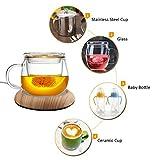LianLe USB Tasse Wärmer Kaffee Tee Tassenwärmer Elektrischer Schalen-Heizungs-hölzerner Korn Milch Hitze Isolierungs Platten Tee Getränk Becher Wärmer für Büro Zuhause