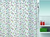 Spirella 10.16739 Textil-Duschvorhang Tuttio Multicolor, 180 x 200 cm