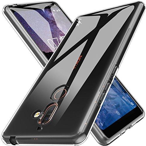 K&L LK Hülle für Nokia 7 Plus, Ultra Schlank Dünn TPU Gel Gummi Weiche Haut Silikon Anti-Kratzer Schutzhülle Abdeckung Case Cover für Nokia 7 Plus (Transparent)