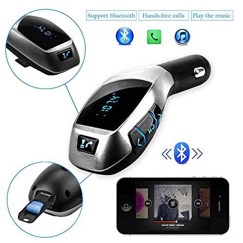 Ein WLAN-In-Auto Bluetooth FM-Transmitter, Bluetooth FM-Transmitter-Radio-Adapter Car Kit mit 5V 2.1A USB-Auto-Ladeger?t MP3-Player-Unterstützungs-TF-Karte USB-Flash-Laufwerk