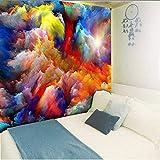 Tapisseries Aquarelle Nuages   Galaxy Hippie Tenture Murale Décor Psychédélique...