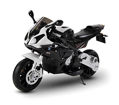 Moto eléctrica para niños BMW asiento de cuero funcionamiento con llave