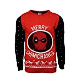 Marvel Official Deadpool Merry Chimichanga Christmas Jumper/Ugly Sweater - (UK S/US XS)