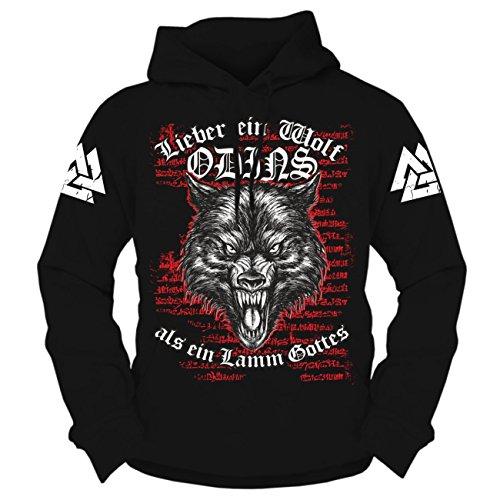 Spaß kostet Männer und Herren Kapuzenpullover Wikinger Wolf Odins