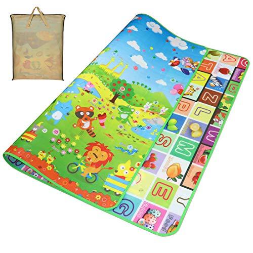 Gutsbox Tappeto Ripiegabile con Animali Tappeto Bambini Tappeto Puzzle Bambini Giochi per Cameretta Bambini Tappetino, Pavimento Antitrauma Tappeto Gioco (Animale, 180_x_200_cm)