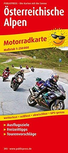 Österreichische Alpen: Motorradkarte mit Ausflugszielen, Einkehr- & Freizeittipps und Tourenvorschlägen, wetterfest, reissfest, abwischbar, GPS-genau. 1:250000 (Motorradkarte / MK) (Motorrad-karten)
