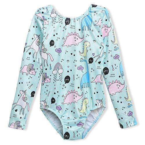 25738eaa7588 DAXIANG Leotards Girls Long Sleeve 5 6 Dancewear Sleeveless Cute Cartoon  Printed Dance Leotard with Shorts