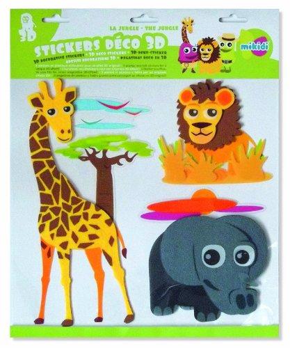 Mikidi Stickers Déco 3D - La Jungle