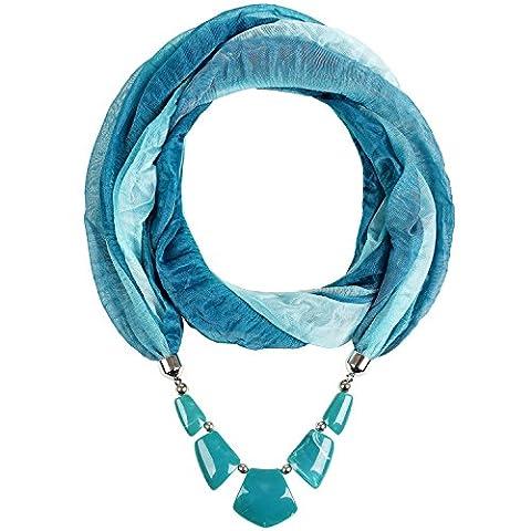 Forever & Moment Geschenk Idee Infinity Schals für Damen Halskette mit Marmor Schmuckstein Schals & Tücher für (Valentines Geschenke Idee)