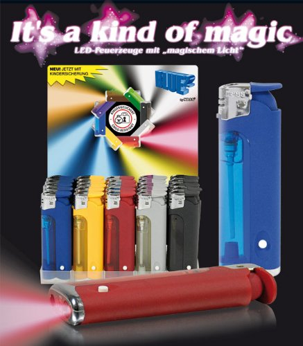 feuerzeug mit licht 50 x LED-Feuerzeug - Feuerzeuge mit Licht -