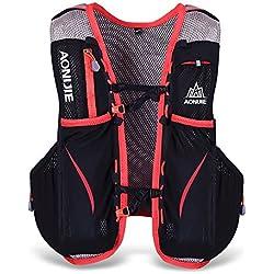 Lixada 5L Deportes Mochila Vest Pack para 1.5L Water Bag Ciclismo Senderismo Bag al Aire Libre Deportes (L-XL)