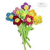 Hangnuo 8 confezioni di peluche margherita Smile Face Flowers – multifunzionale tenda Bacakties Room Decor Gift, Multi, Confezione da 8