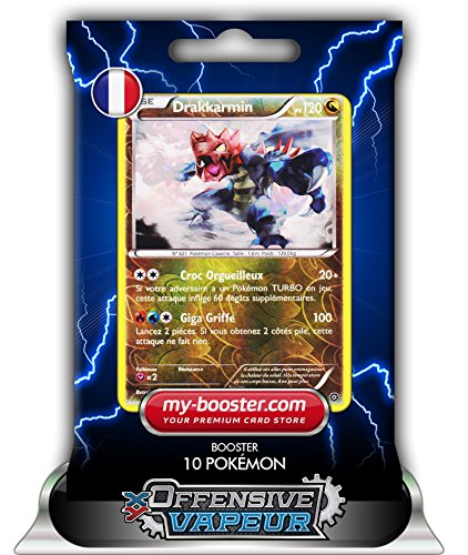 DRAKKARMIN holo reverse 83/114 120PV XY11 OFFENSIVE VAPEUR - Booster de 10 cartes Pokemon francaises my-booster