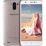 Smartphone ohne Vertrag, Blackview R6 Lite 3G Dual SIM Smartphone mit 5,5 Zoll QHD IPS Display - Android 7.0 Handy - MTK6580 Quad Core 1.3GHz - 3000mAh Großer Akku - 2MP + 8MP Kamera - 16GB ROM - Golden