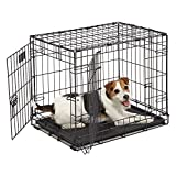 MidWest Homes for Pets MidWest 1524DD iCrate-Hundekäfig mit Doppelklappe (60,96 x 45,72 x 48,26 cm)