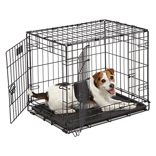 Midwest Homes for Pets Midwest 1524DD iCrate-Hundekäfig mit Doppelklappe (60,96x45,72x48,26cm)
