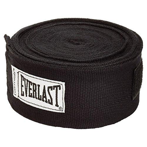 Everlast 180 - Cinta de boxeo para manos (458 cm), color negro, unisex,...