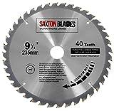 Lame de scie circulaire à bois Saxton TCT - 235x 30mm x alésage x 40dents...