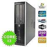 PC HP Compaq Elite 8100SFF Intel Core i3–5304GB Festplatte 250GB DVD WiFi W7