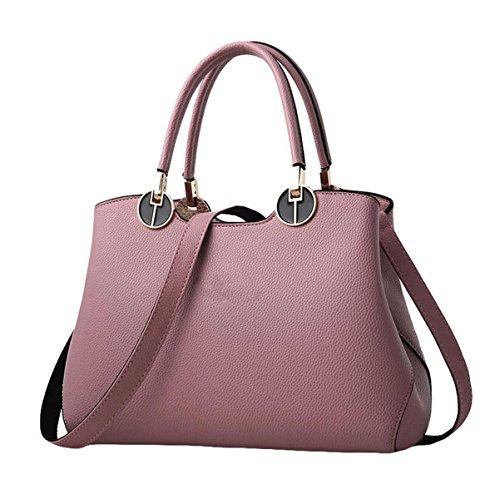 Weibliche Tasche Retro Handtasche Schultertasche Messenger Tasche Atmosphäre Einfache Mode Lässig Eleganz Pink
