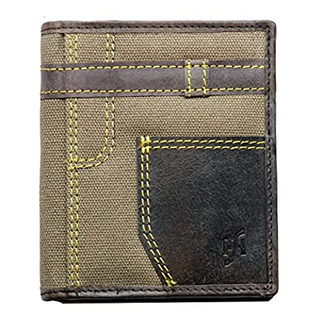 UNIQUE Starhide Mens Designer Distressed Hunter Leather / Jeans Wallet With Zip Coin Purse - Gift Boxed #610