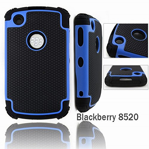 Bracevor Triple Layer Defender Back Case Cover for Blackberry Curve 8520 (Hybrid Shell) : Blue  available at amazon for Rs.399