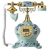 Phone Schnurgebundenes Telefon mit Anruferkennung/Retro-Telefon/Festnetztelefon mit Push-Button-Technologie YHX (Farbe : 1)