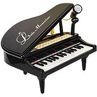 Baoli 31 tasti Piano nero per i bambini con microfono elettronico Tastiera musicale di organo