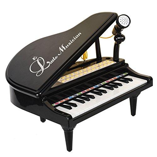 Baoli 31 Tasten Schwarzes Klavier für Kinder mit Mikrofon Elektronische Orgel Musik Tastatur