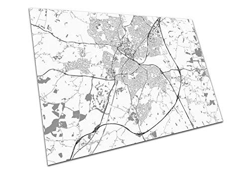 Chelmsford England Street Map Artwork Print City Town Black