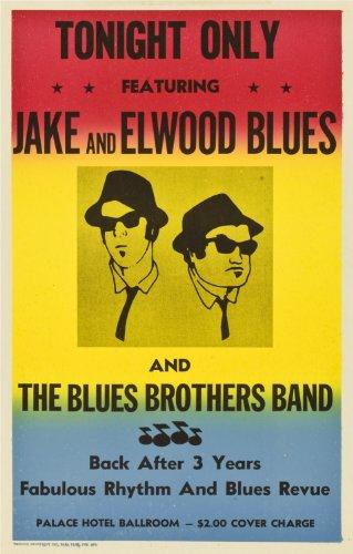 "Poster del film ""The blues brothers"", dimensioni 30,48 x 20,32 cm"