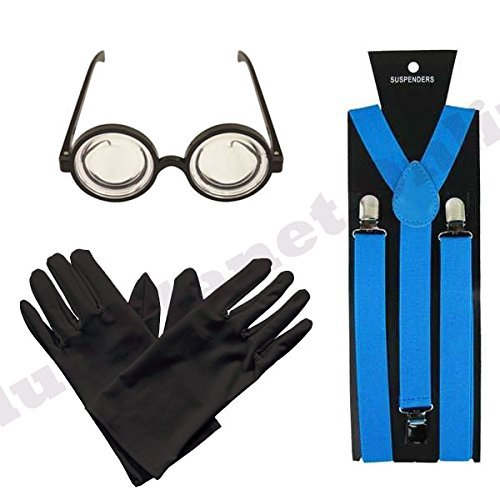 s, Black Gloves and Goggles Glasses Fancy Dress by Blue Planet Online ()