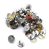 Hongci Lot de 25 fermoirs magnétiques pour sac/couture/scrapbooking, etc., 18 mm
