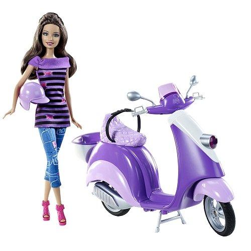 TERESA ET SON glam SCOOTER mauve et rose barbie accessoires 0746775144050