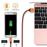 Micro USB Cable Yosou USB Charger Cable[3Pack 1M/3.3ft] Nylon Braided USB Cable High Speed Fast Android Charging Cables for Samsung, Nexus, LG, Motorola, Nokia and More-Blue, Green, Orange Bild 1
