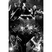"""Póster de Metallica """"Live/En vivo"""" (61cm x 91,5cm) + 2 marcos transparentes con suspención"""