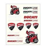 Ducati Corse Moto GP Racing Aufkleber Set Mittel Offiziell 2018