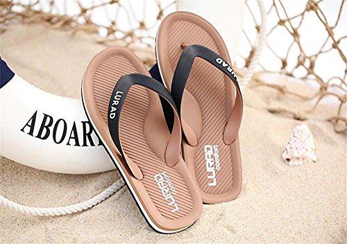 ALUK- Sommer Sandalen - Herren Hausschuhe Hausschuhe mit Europa und die Vereinigten Staaten Trend der Strand Schuhe ( Farbe : Braun , größe : 40 ) Braun