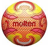 Freizeitball, weiches Synthetik-Leder, maschinengenäht - Farbe: Orange/Gelb/Pink, Größe: 5