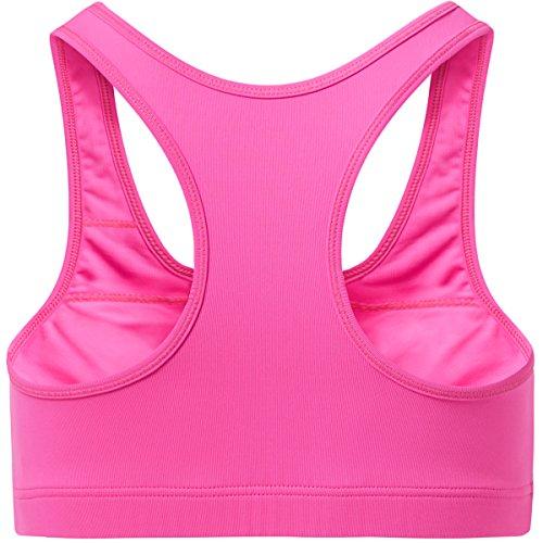 Sportkind Mädchen & Damen Sport / Tennis / Fitness BH mittlerer Halt Neon Pink