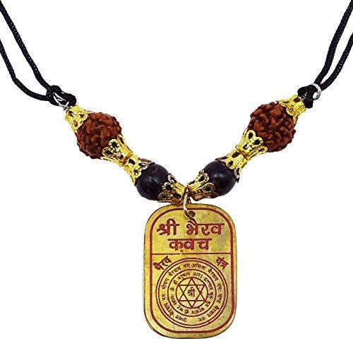 Religieuse indienne Kavach Yantram Rudraksh médaillon pendentif en Vastu Yantra Or-1