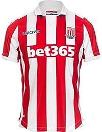 Macron 58077090 FC Stoke City Shirt Jersey Camiseta Camiseta Home 2016 2017 9d986699c1a52
